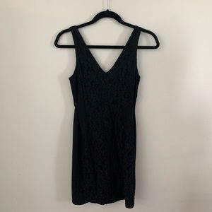 Topshop Black Lace Bodycon Dress